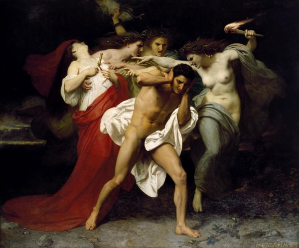 Orestes Pursued by the Furies – Adolphe William Bouguereau (1862)