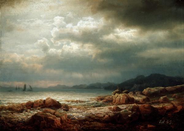 """Lars Hertervig – """"Coastal Landscape"""" (1855)"""